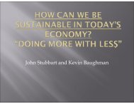 How Can We Be Sustainable in Today's Economy