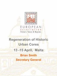 Regeneration of Historic Urban Cores 13 -15 April, Malta - European ...