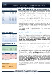 31/10/2012 Informe diario de mercados de Saxo Bank Los futuros ...