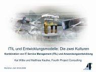 Die zwei Kulturen - Kombination von IT Service Management und ...