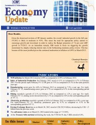 Economy Update 9-15 April 2012 - CII
