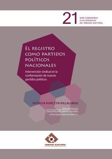 El registro como partidos políticos nacionales - Tribunal Electoral ...
