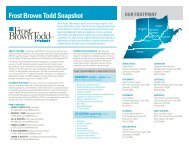 Frost Brown Todd LLC - Manufacturers' Education Council