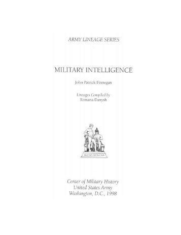 Military intelligence - Fort Huachuca