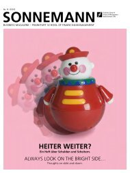 HEITER WEITER? - Frankfurt School of Finance & Management