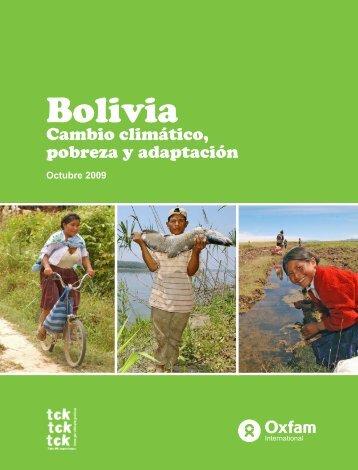 Bolivia: Cambio climático, pobreza y adaptación