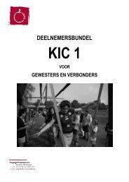 deelnemersbundel KIC 1 voor gewesten en verbonden 09-10 - Chiro