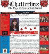 April 2012 Chatterbox - Ruston High School - Lincoln Parish School ...