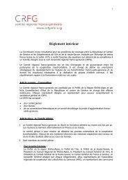 Réglement Intérieur 2008 - CRFG