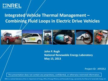 Combining Fluid Loops in Electric Drive Vehicles - Department of ...