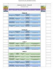 Vacaciones de Julio - Cultura IM Sábado 29 Domingo 30 Lunes 1º ...
