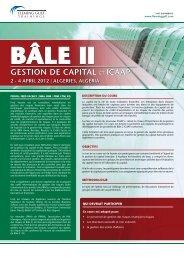BâLE II Gestion de capital et icaap - Risk Reward Limited