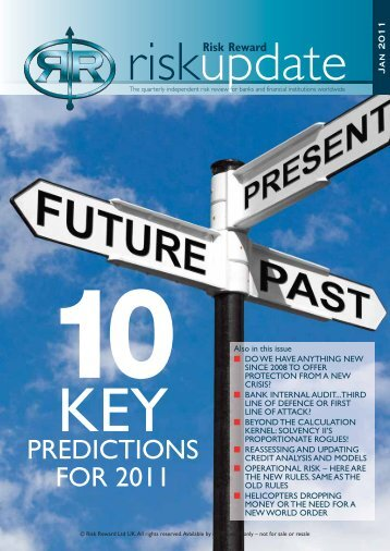 PREDICTIONS FOR 2011 - Risk Reward Limited