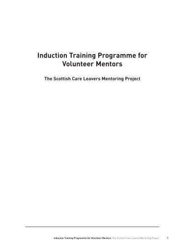 Background to the Induction Training Programme - Scottish ...