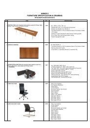 ANNEX II FURNITURE SPECIFICATION & DRAWING - UNDP