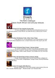 The Retro Catalogue Classic South African rock and ... - Fresh Music