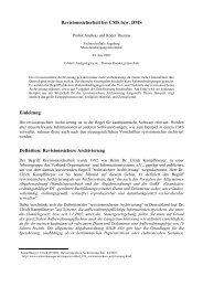 Revisionssicherheit bei CMS bzw. DMS - Content-Management