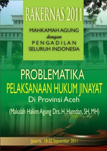 Problematika pelaksanaan hukum jinayat di provinsi aceh - PA Bima