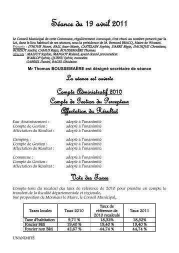 Compte Rendu du Conseil Municipal du 19 Avril - Wissant