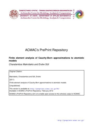 Download (515Kb) - ACMAC's PrePrint Repository
