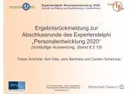 Personalentwicklung 2020 - PfO Partner