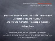 Positron science with the Soft Gamma-ray Detector onboard ... - Cesr