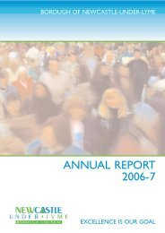 ANNUAL REPORT 2006-7 - Newcastle-under-Lyme Borough Council