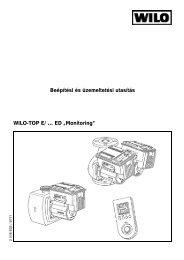 """Beépítési és üzemeltetési utasítás WILO-TOP E/ … ED """"Monitoring"""""""