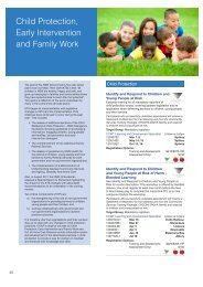 Child Protection, Early Intervention and Family Work - ACWA