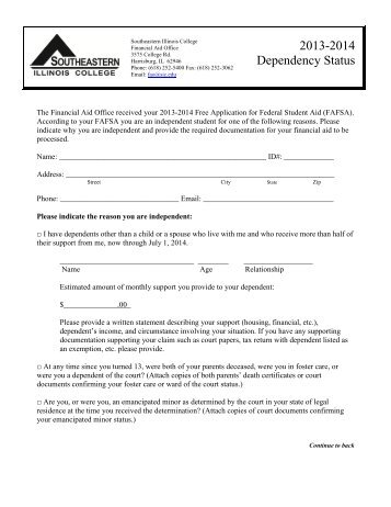 Dependency Status Change Request Form - Skyline College