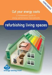 en refurbishing living spaces - Energy Saving Trust