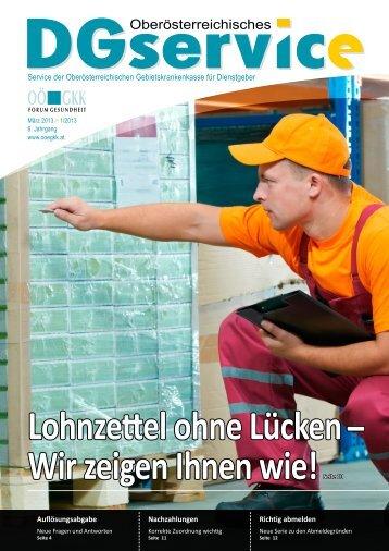 DGservice Magazin Nr. 1 2013 - Dienstgeber - OÖGKK