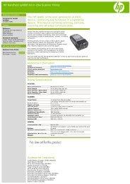 HP Handheld sp400f All-in-One Scanner Printer The ... - Everprint.com