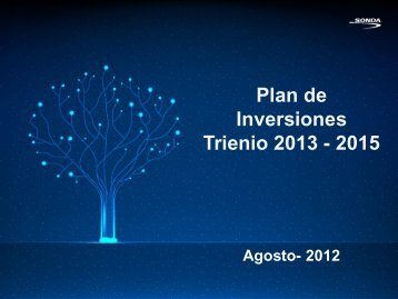 Plan de Inversiones Trienio 2013 - 2015 - Sonda