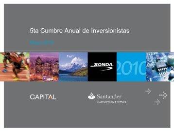 Quinta Cumbre Anual de Inversionistas - Sonda