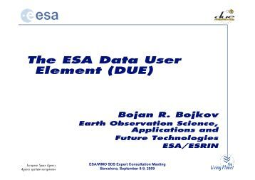 The ESA Data User Element (DUE)