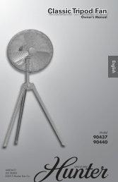 Classic Tripod Fan - Hunter Fan