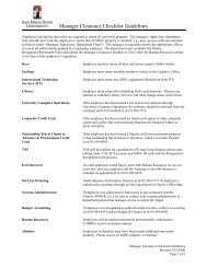 Manager Clearance Checklist Guidelines - Center for Human ...