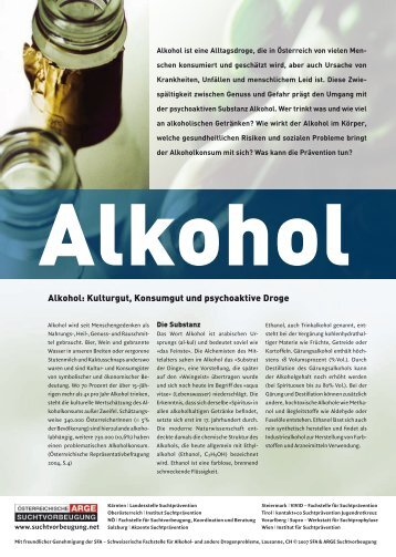 Alkohol: Kulturgut, Konsumgut und psychoaktive Droge - Vivid