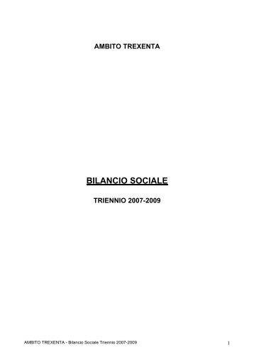 Bilancio sociale Trexenta 2007- 2009 - Sociale - Provincia di Cagliari