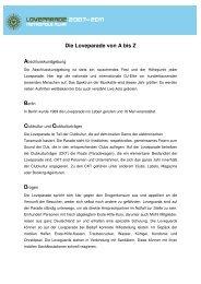 Loveparade A-Z - EN-Mosaik
