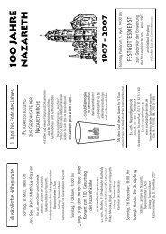 Programm 100 Jahre Nazareth - Ev.-luth. Südstadt-Kirchengemeinde