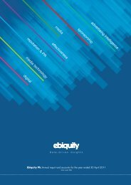 Annual report - Ebiquity