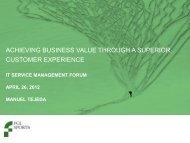 Value Through Superior Customer Experience