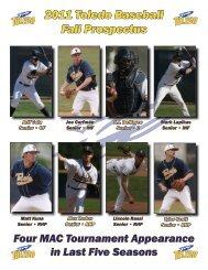 2011 Toledo Baseball Fall Prospectus - University of Toledo Athletics