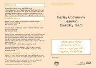 Bexley Bereavement leaflet (LD) - Oxleas NHS Foundation Trust