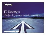 IT Strategy - the Key to Winning Executive Support - itSMF Canada