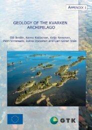 APPENDIX 1 – Geology of the Kvarken Archipelago - Arkisto.gsf.fi
