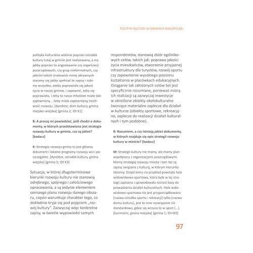 Sceny kulturowe a polityki kultury w Małopolsce - Obserwatorium ...