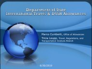 WB6 - Department of Stateand OCONUS Travel Foreign Travel